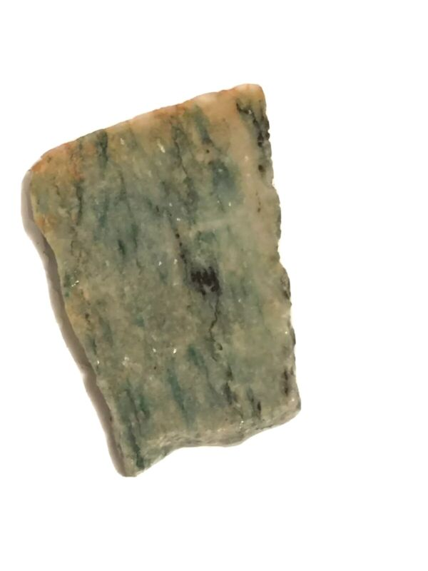 Unpolished section Natural Rough mariposite Sm Lapidary Slab Piece Green 6mm