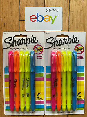 Sharpie Accent Pocket-Style Highlighters, Assorted 5 ea (Pack of 2)