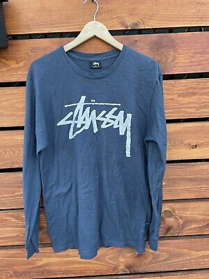 STUSSY long sleeve t shirt Blue Medium
