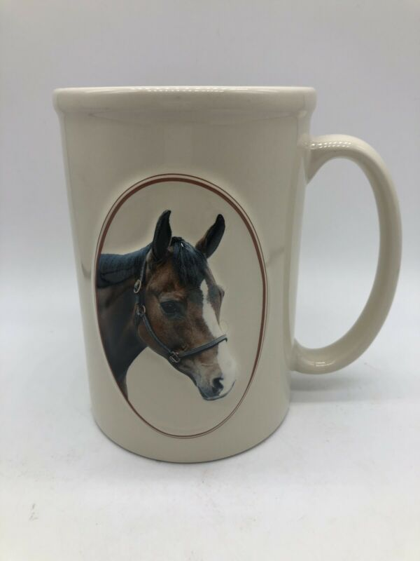 Equine Expressions Coffee Mug Bay Horse 3D with L. McGuire Quote 2007