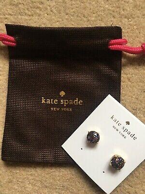 Kate Spade Multicolour Glitter Gold Earrings New