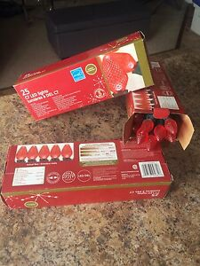Christmas lights (3) red colour *NEW*
