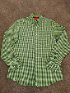 Van Heusen Sport Green & Navy Checked Shirt - Very Good Cond Size M Rangeville Toowoomba City Preview