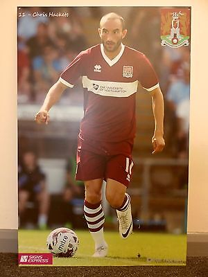 NORTHAMPTON TOWN | 2014-2015 | LARGE CHRIS HACKETT SIGN/PICTURE