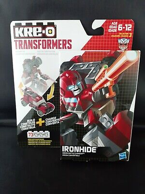 💥 New KRE-O TRANSFORMERS IRON HIDE KREON BATTLE CHANGER 73 PIECES 💥