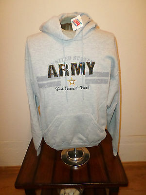 U.S. ARMY GRAY FORT LEONARD WOOD SWEATSHIRT HOODIE SOFFE SIZE LARGE