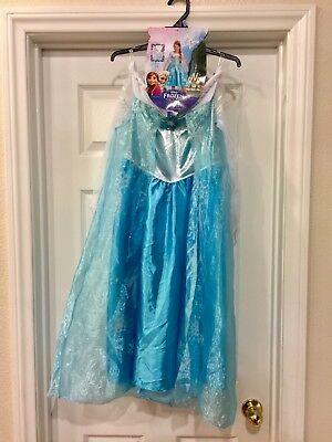 Disney Frozen Elsa Deluxe Child Costume M (7-8) Gloves & Crown Included ()