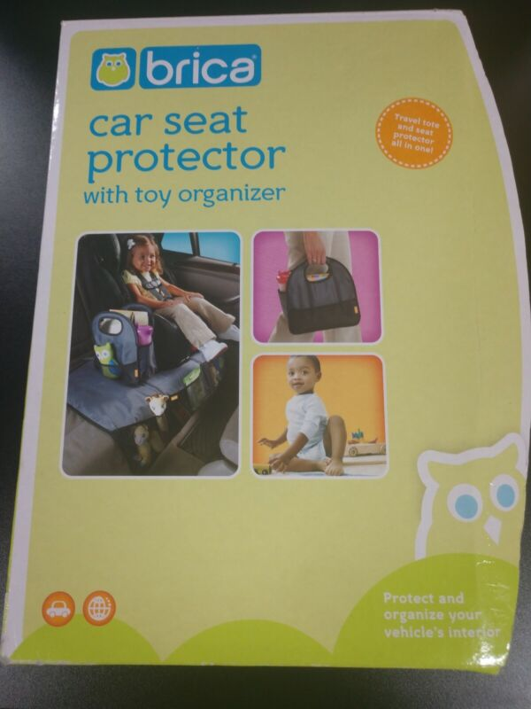 Brica Car Seat Protector Spill Dirt with Child Toy Organizer Automotive Guardian