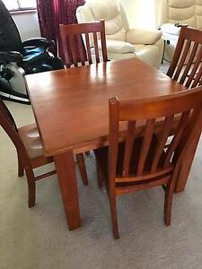 Wooden pine table and chairs Middle Park Brisbane South West Preview