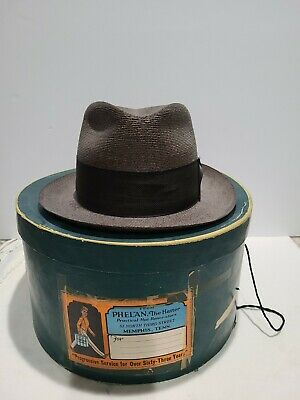 1950s Mens Hats | 50s Vintage Men's Hats Knox Milan Hat  Made in New York Size7.1/8  1950s Original Box Condition use $75.00 AT vintagedancer.com