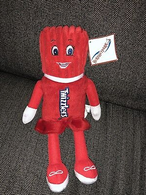 """11"""" Twizzlers Plush Candy Doll Toy Kid Souvenir Hershey Park Strawberry Red Yum"""