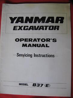 Selection of yanmar excavator b3-1& b5 operators manuals | other.