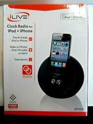 iLIVE Digital Clock Radio Dock Ipod & Iphone AC/DC Adapter  Item # ICP101P NIB