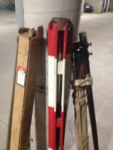 SURVEY EQUIPMENT FROMN 1940's, VINTAGE, GOOD CONDITION