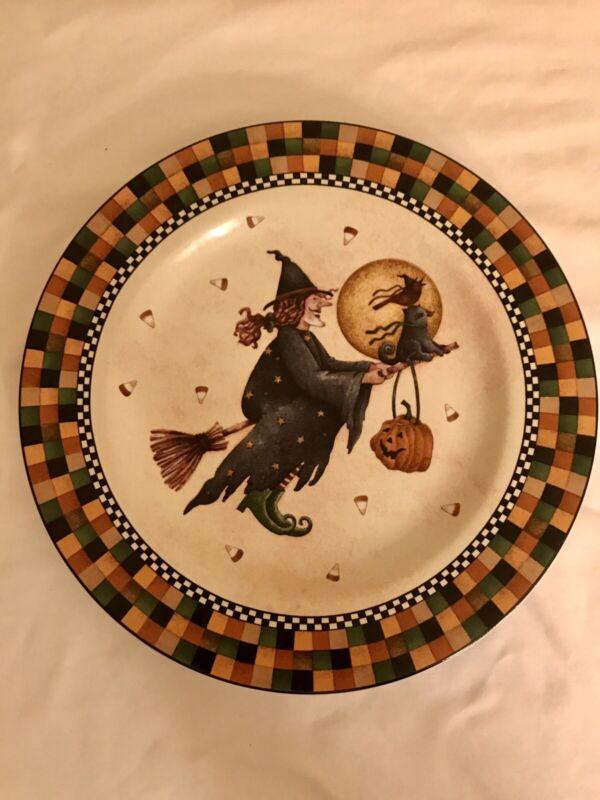"Oneida Debbie Mumm Halloween Luncheon Plates 8"" Set Of Four"