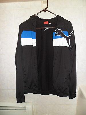 Men's Puma Black Zippered Jacket Size L