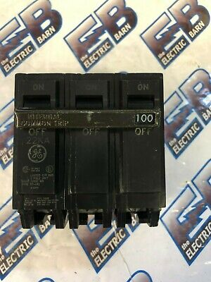 Ge Thhqb32100 100 Amp 240 Volt 3 Pole 22k Ns Circuit Breaker- Warranty
