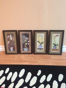 "Paintings in Mahogany Frame; 7 1/4"" x 13"""