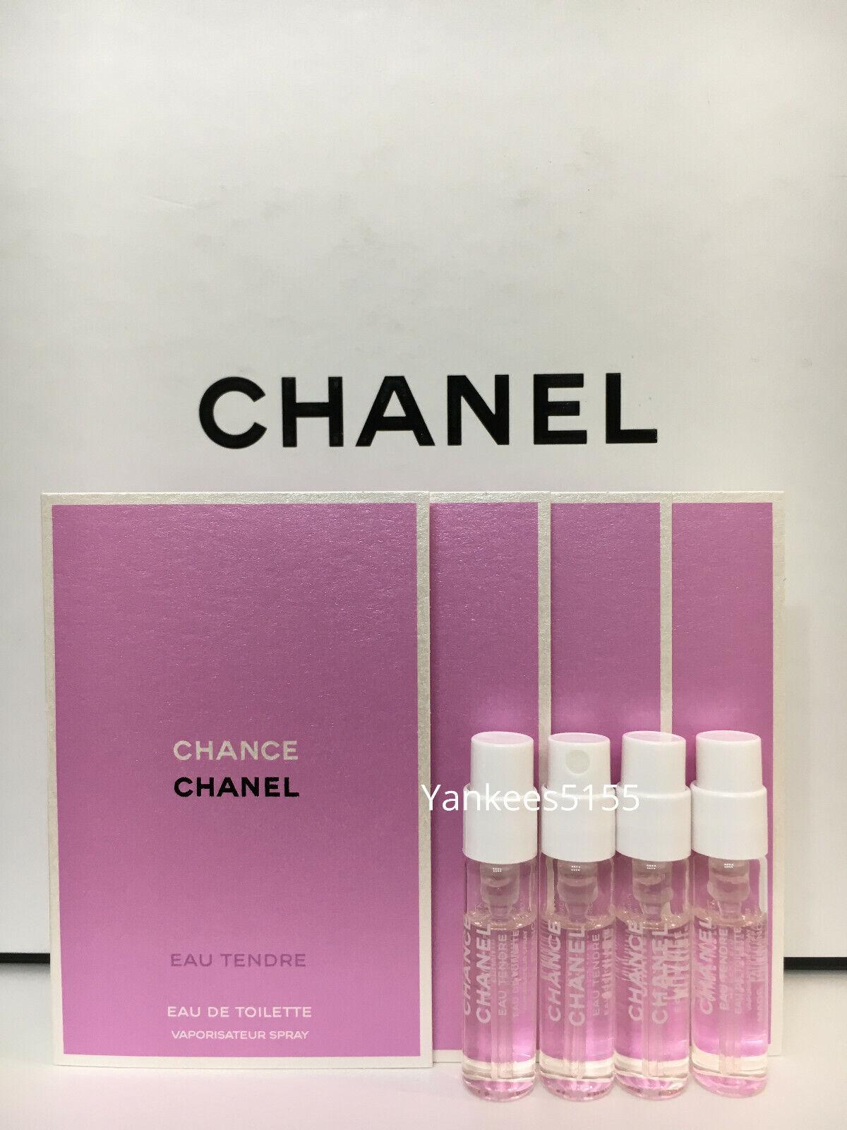 4 x Chanel Chance Eau Tendre EDT Sample Spray 15ml 005oz each