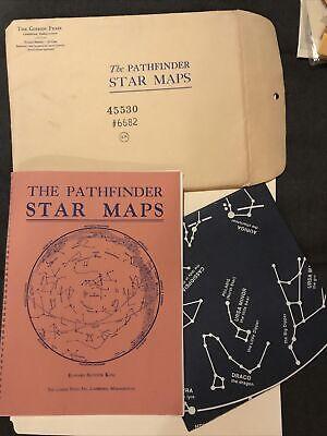 JB099 Pathfinder Star Map 1965 Evening Sky Astrology Celestial