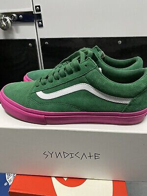 VANS Syndicate Golf Wang Old Skool Green and Pink Men's SZ 10.5 Rare with OG box