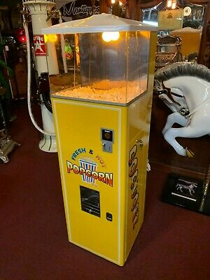 "1950's FEDERAL 10 Cent Popcorn Warming Vending Machine  ""Watch Our Video"""