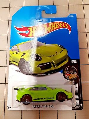 Hot Wheels Porsche 911 GT3 RS Green HW Nightburnerz 6/10