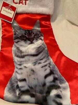"Holiday Time I Heart My Cat (Tabby) Christmas Stockings 17.5"""