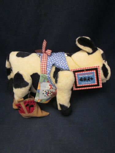 MUFFY VANDERBEAR Square Dancing Skip to my Lulu Patti Cow Dressed VINT NEW TAG