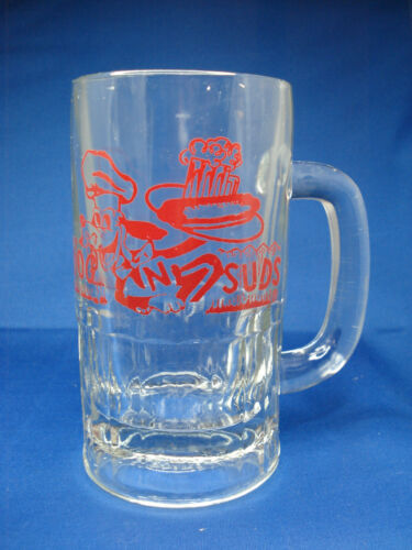 "VINTAGE DOG N SUDS 6"" TALL ROOT BEER GLASS MUG"