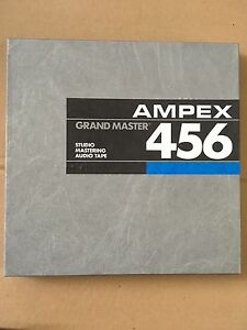 Ampex 456 grand master 1/2 inch studio audio tape