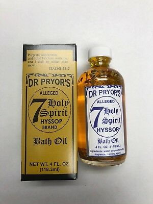 DR. PRYOR'S 7 HOLY SPIRIT HYSSOP BRAND BATH OIL 4 FL OZ