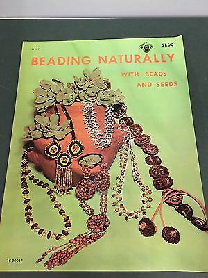 70's Vintage Beading Naturally With Beads & Seeds Instruction Pattern Booklet
