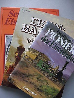 3 Bücher Pioniere Eisenbahn Eisenbahnen gestern heute schöne alte Eisenbahnen