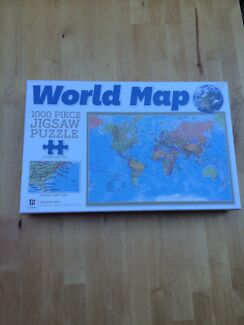 World map jigsaw puzzle  Higgins Belconnen Area Preview