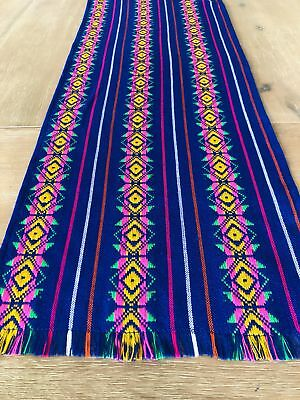 Mexican Fiesta Table Runner or Tablecloth tribal blue - Fiesta Table Runner