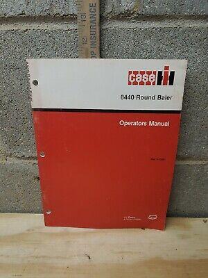 Case Ih 8440 Round Baler Operators Manual Hay Straw Grass