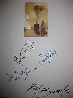 Hell or High Water Signed Film Script X4 Ben Foster Chris Pine Jeff Bridges RPNT