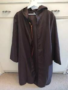 Brown Cloak Cosplay Costume Fancy Dress Hodded L Medieval Cape Adult