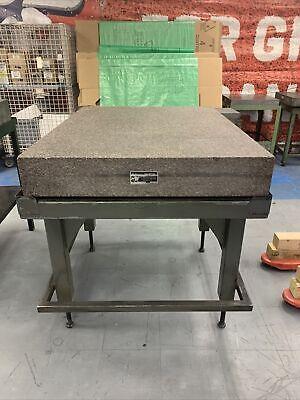 Starrett Tru-stone 48 X 36 X 6 Grade A Granite Surface Plate W Stand