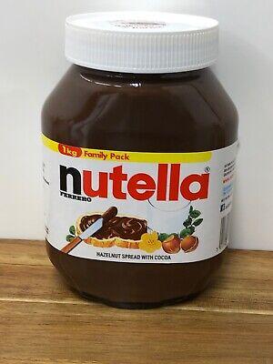 Nutella Ferrero Chocolate Spread 1kg Hazelnut Long Date 05/02/21
