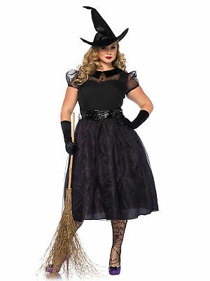 Plus Size Curvy Vintage Darling Spellcaster Witch Costume - Busty Costumes