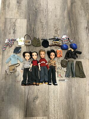 MGA Bratz Boyz Doll Lot Colby Cade Cameron Clothes Shoes Accessories Motorcycle