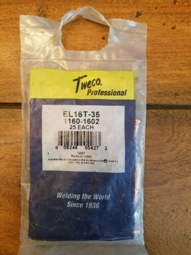 Tweco EL16T-35 Contact Tip For 250-650A Elminator Series MIG, 25PK