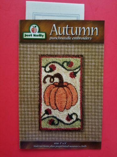 PUNCH NEEDLE PATTERN ~ Autumn ~ Jeri Kelly kit Fall Halloween Pumpkin