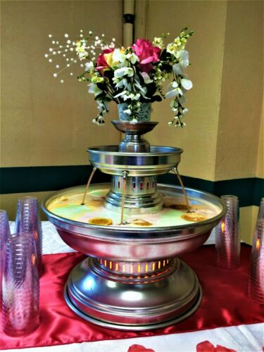 3 Gallon Aluminum Champagne Punch Party Beverage Fountain with 2 Toppers