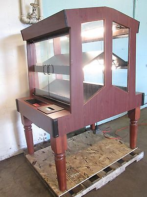 Columbus Show Case H.d. Commercial Stained Wood Lighted Bakery Merchandiser