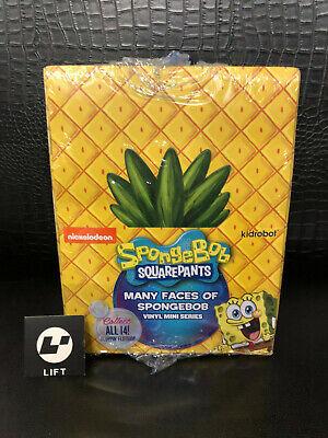 Kidrobot Many Faces of Spongebob Squarepants Figure Sealed Case 24 Blind Boxes for sale  Shipping to India