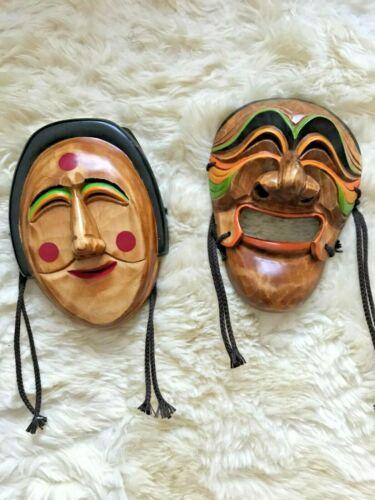 Authentic Korean Mask Talchum Hahoe Hahoetal Yangban Bune Real Face size