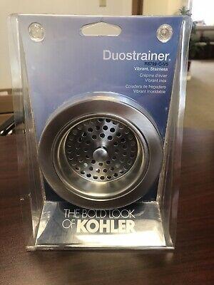 """Kohler Duostrainer Vibrant Stainless R8799-C-VS Fits 3-1/2""""-4"""" Outlet Open Box"""